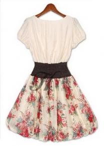 Легкое двухцветное платье