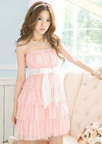 Легкое платье с бантом
