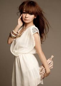 Шифоновое свободное платье