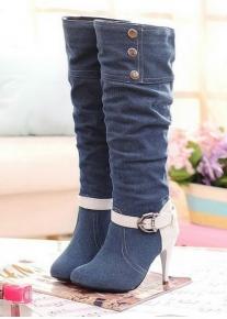 Оригинальные сапожки под джинсу