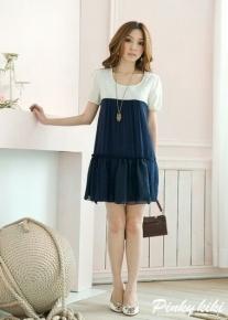 Элегантное двухцветное платье