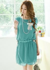 Легкое шифоновое платье с бантиками