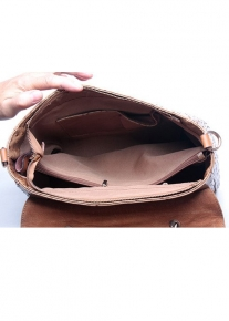 Кожаная фактурная сумка портфель