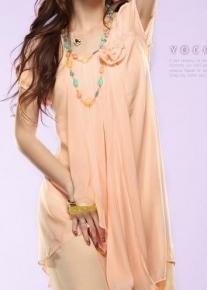 Шифоновое платье ассиметричного кроя