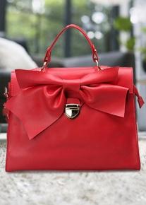 Оригинальная сумка портфель с бантом