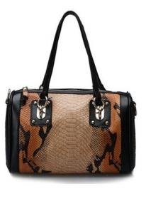 Кожаная сумка с тиснением под рептилию