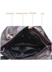 Кожаная сумка с бахромой по краям