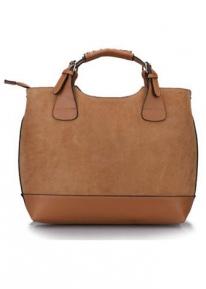 Эффектная замшевая сумка