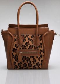 Оригинальная контрастная сумка из натуральной кожи