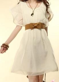Шифоновое платье на резинке