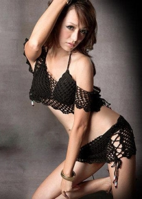 Сексуальное бикини с топом и юбочкой