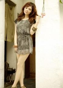 Легкое леопардовое платье