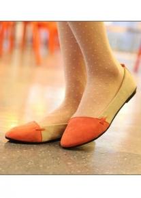 Замшевые балетки в два цвета