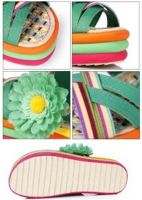 Разноцветные босоножки на платформе