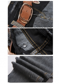 Узкие джинсы в полоску