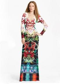 Длинное платье с орнаментом Emilio Pucci