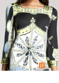 Эффектное платье с узорным принтом  Emilio Pucci