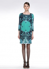 Платье в сине-бирюзовых тонах Emilio Pucci