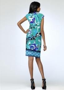Платье с эффектной драпировкой Emilio Pucci