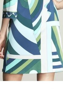 Трапециобразное платье с геометрическим принтом Emilio Pucci