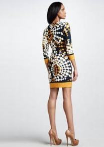 Эффектное платье с абстрактным 3D принтом  Emilio Pucci