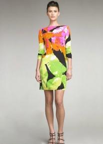 Яркое платье с тропическим принтом Emilio Pucci