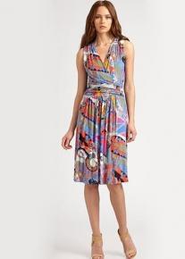 Разноцветное платье с драпировкой Emilio Pucci