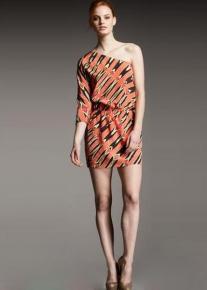 Коротенькое платье на одно плечо Emilio Pucci