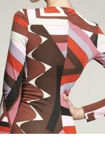 Изящное платье в коричнево-оранжевых тонах Emilio Pucci