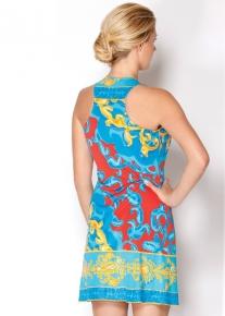 Летнее эффектное платье с красивым вырезом Emilio Pucci