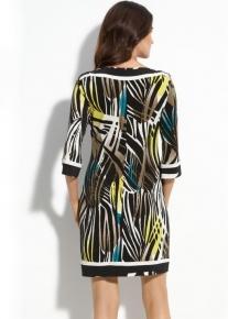 Платье с абстрактным принтом Emilio Pucci