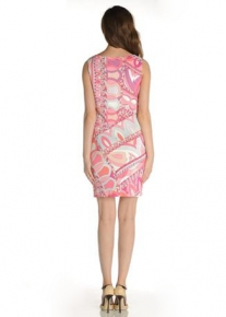 Оригинально декорированное платье Emilio Pucci
