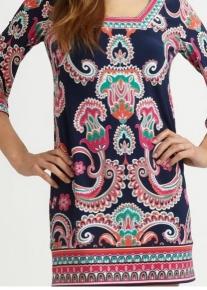 Платье с принтом в индийском стиле Emilio Pucci