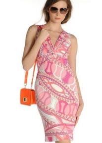 Платье с красивым вырезом Emilio Pucci