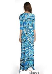 Длинное приталенное платье Emilio Pucci
