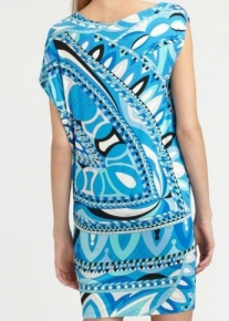 Асимметричное платье с принтом Emilio Pucci