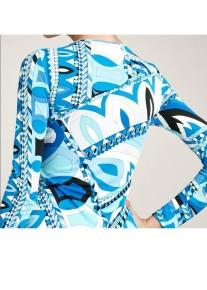 Эффектное платье с красивым вырезом Emilio Pucci