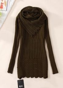 Изящная туника с узорным шарфом