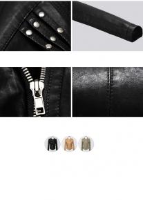 Куртка декорированная заклепками и стежками