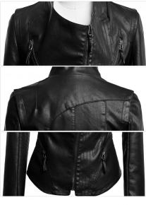 Оригинального фасона куртка с геометрическими элементами
