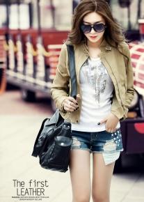 Короткая куртка с пряжками