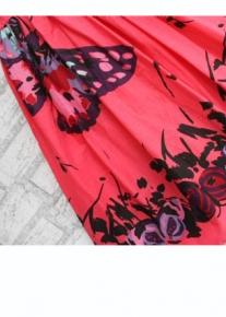 Расклешенный сарафан с принтом бабочек