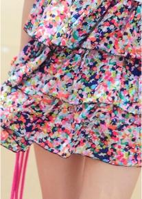 Радужный воздушный сарафан с оборочками