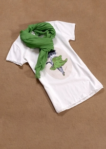 Футболка с шарфом