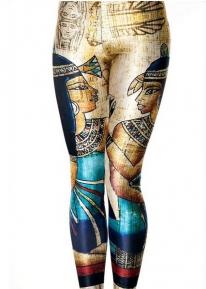 Яркие леггинсы с принтом в египетском стиле