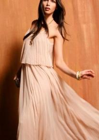 Воздушное длинное платье