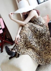 Длинный леопардовый сарафан