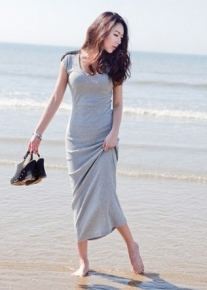 Оригинальное трикотажное платье
