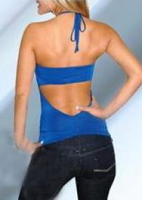 Синий топ с пряжками