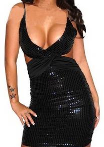 Сексуальное блестящее платье